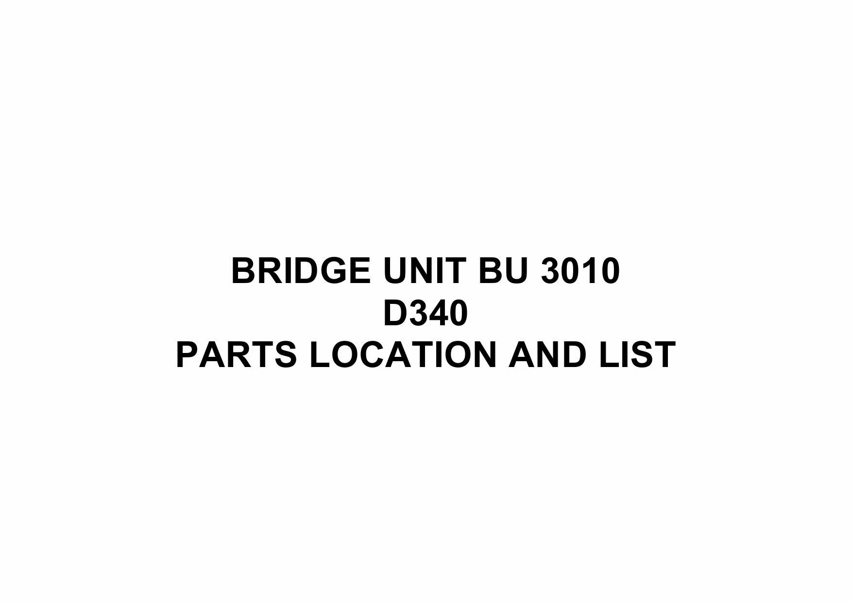 RICOH Options D340 BRIDGE-UNIT-BU-3010 Parts Catalog PDF download-1